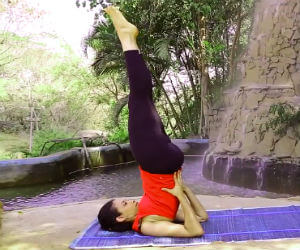 Yoga for thyroid SARVANGASANA
