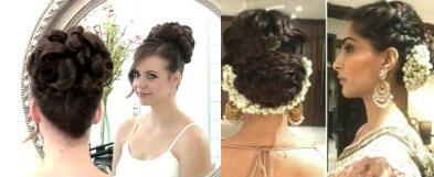 Curl Overlap Hairstyles -Bridal Makeup