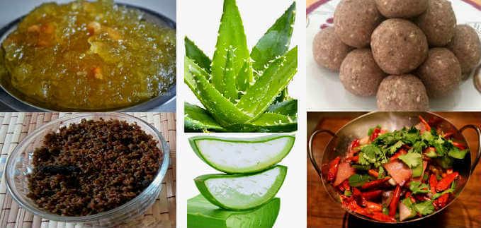 aloe vera ladoo sabzi halwa recipes in hindi एलोवेरा के व्यंजन–सब्जी, हलवा, लड्डू और गुझिया बनाने के विधि