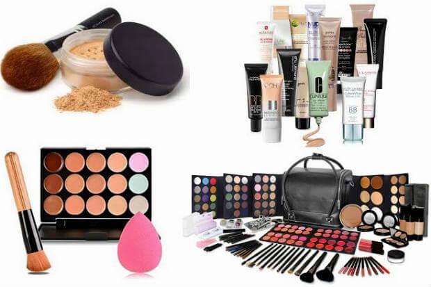 makeup kit items list in hindi मेकअप किट – क्रीम रूज और फाउंडेशन की जानकारी
